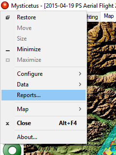 Open the report dialog